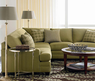 Sectional couche green