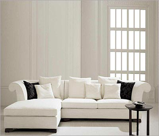 Sectional couch white