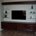 How to Create Trendy TV Wall Mount Cabinet with Glass Shelves?